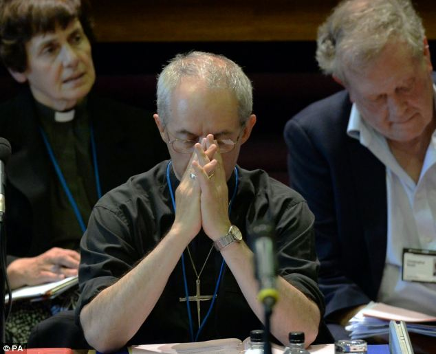 Archbishop Welby told Church leaders that criticism of them had been 'uncomfortably close to the bone'