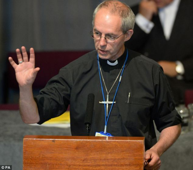 The Archbishop of Canterbury told the bishops: 'We must accept there is a revolution in the area of sexuality¿