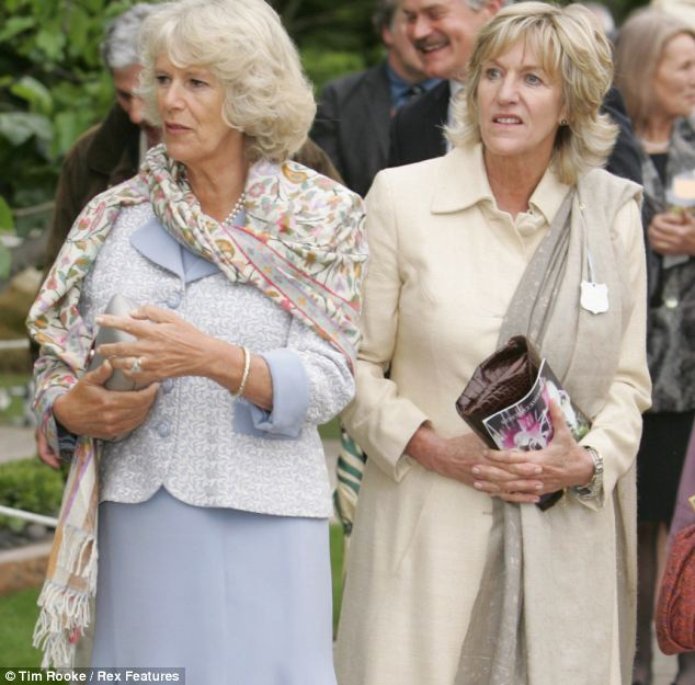 Camilla, Duchess of Cornwall and sister Annabel Elliot