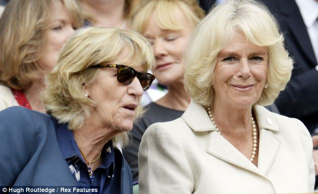 Allies: Annabel and Camilla together at this year's Wimbledon