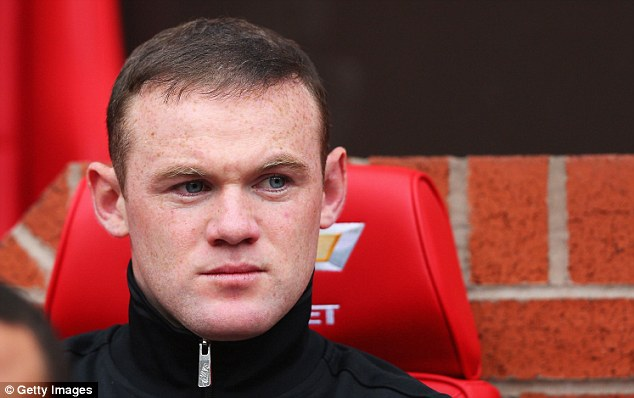 Benched: Rooney spent the end of the season on the sidelines, leading to speculation about his future