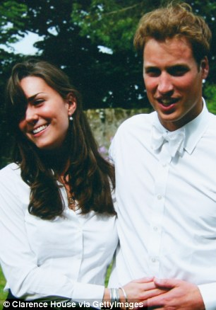Happy days: The Duke and Duchess of Cambridge graduate St Andrew's in 2005