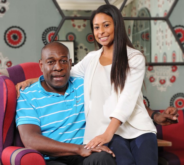Reunited: Frank Bruno is finally talking to his daughter Rachel again after feeling his family betrayed him when they had him sectioned three times to be treated for his bipolar disorder