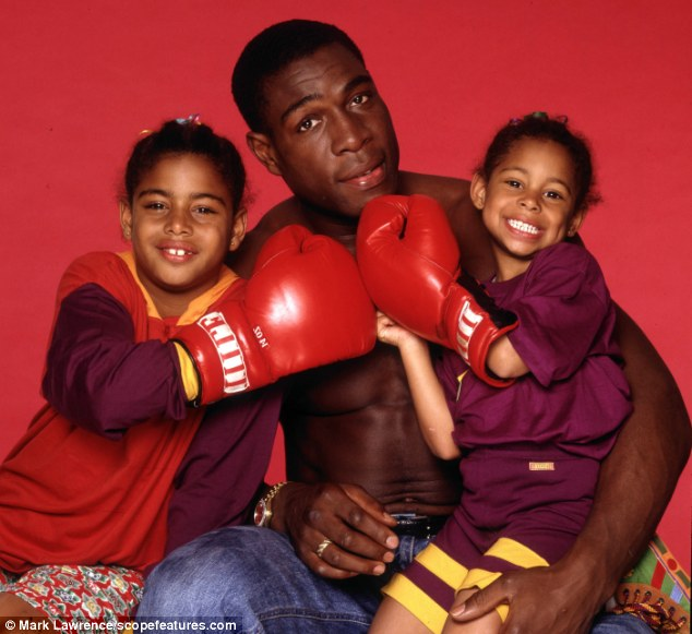 His girls: Boxing legend Frank with his daughters Rachel, right, then five, and Nicola, then nine, in 1992