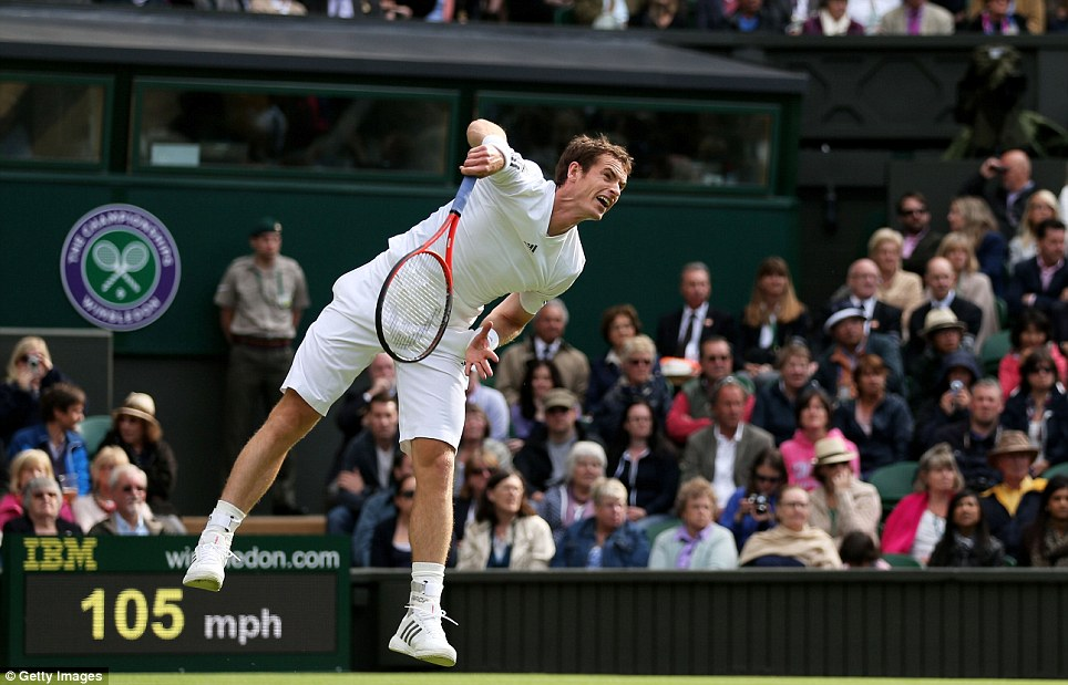 Powerful start: First up was Germany's Benjamin Becker, who Andy Murray had played just one week earlier at Queen's Club. It was a comfortable start for the Scot who went on to win 6-4, 6-3, 6-2.