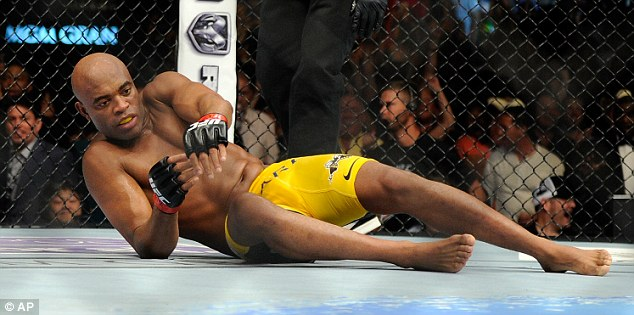 Jaded: Anderson struggles to get off the canvas after taking a blow