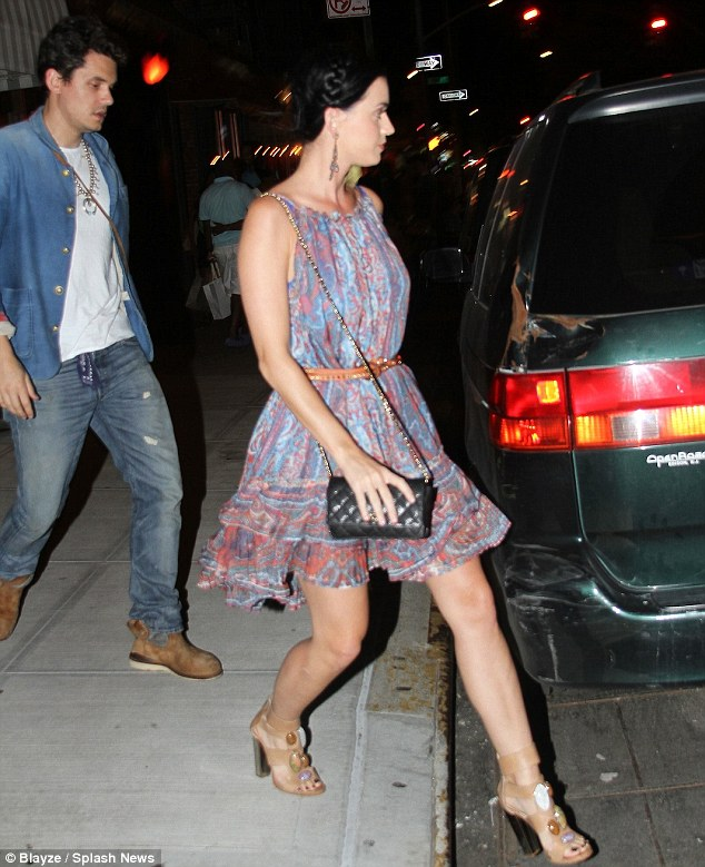 Back on? Katy Perry and John Mayer were seen together at Il Mulino restaurant in New York City on Friday