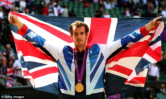 Champion: He quickly put his Wimbledon nightmare to bed by winning at the Olympics