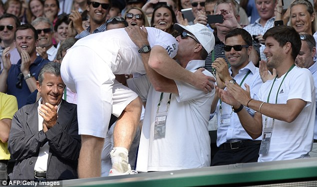 Backroom support: Ivan Lendl has made such a difference to Murray on the court