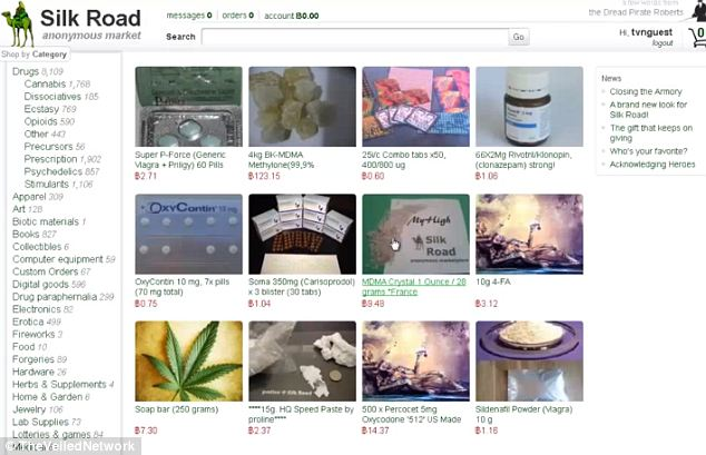 eBay of drugs: Evidence suggests that Hughes' Bitcoins were seized in connection with shadowy internet drug bazaar Silk Road, which only accepts Bitcoins