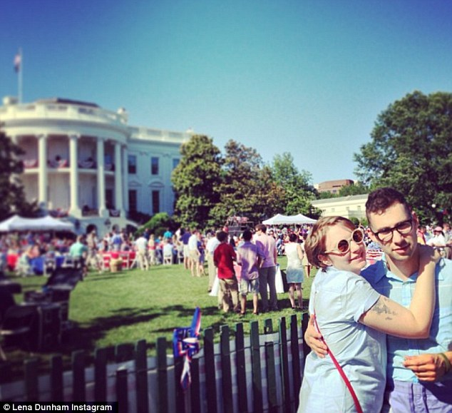 Happy July 4! Lena and her boyfriend Jack Antonoff tweeted from the White House
