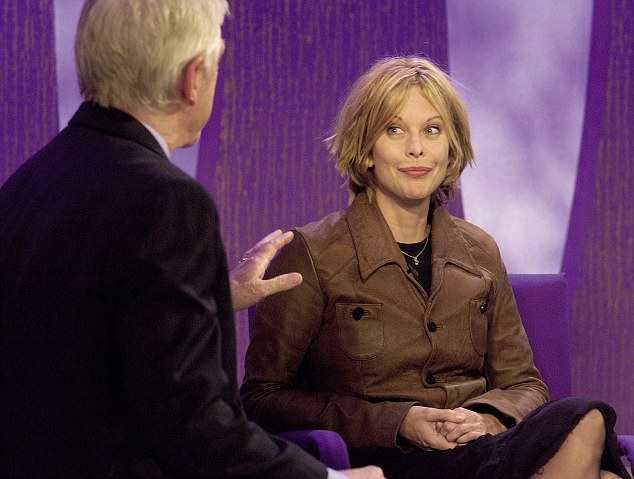 Michael Parkinson with Meg Ryan on his BBC chat show. He has listed the interview as one of his 'most awkward TV moments'