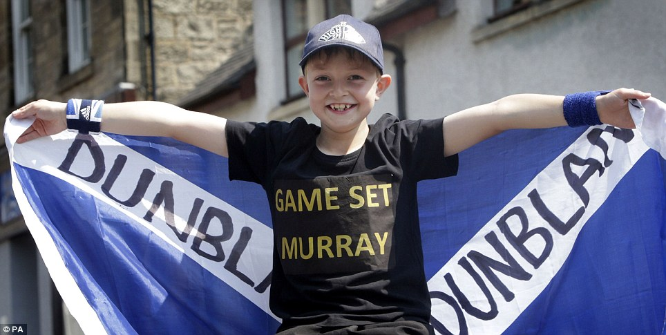 Game set Murray: Finlay Sheriff in Andy Murray's home town of Dunblane in Scotland, ahead of the Andy Murray v Novak Djokovic Wimbledon final