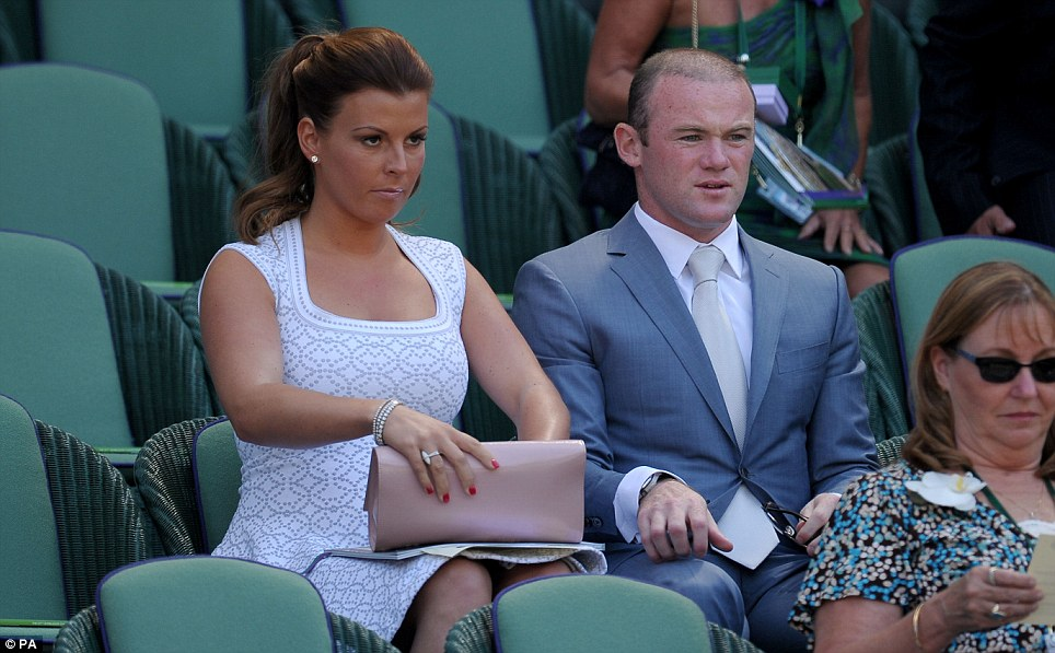 Wayne and Coleen Rooney in the Royal Box on Centre Court to watch Andy Murray in the Wimbledon tennis final