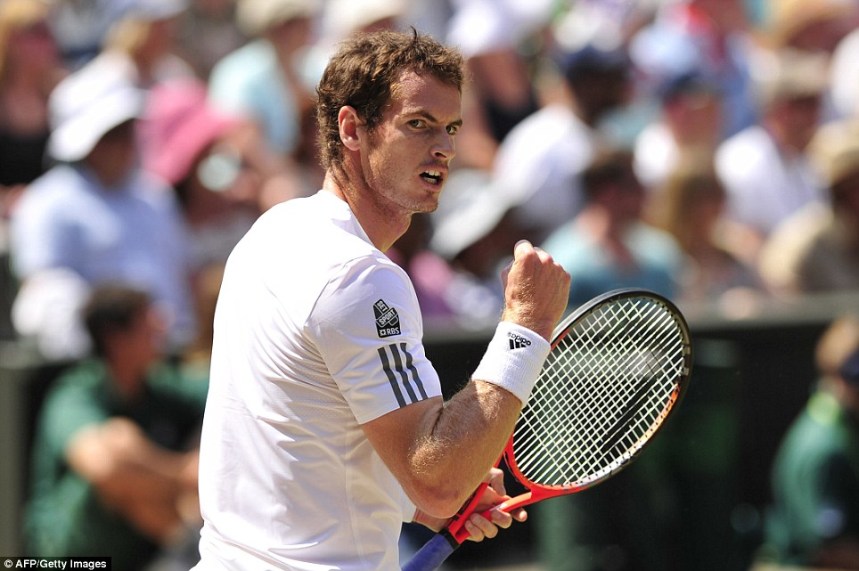 On form: Andy Murray took the first set in his final match against Novak Djokovic
