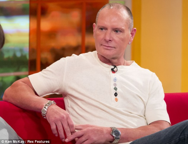 Rehab: Paul Gascoigne, pictured on ITV's 'Daybreak' in March, spent time at a £100,000 rehab facility in Arizona, paid for by several famous friends, and swore he would never touch alcohol again