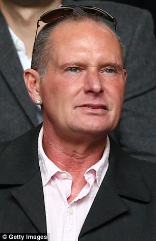 Paul Gascoigne, Former Spurs and England player looks on during the Barclays Premier League match between Tottenham Hotspur and  Everton at White Hart Lane on April 7, 2013