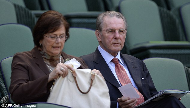 Influential figure: IOC President Jacques Rogge is in the box to watch the much anticipated final