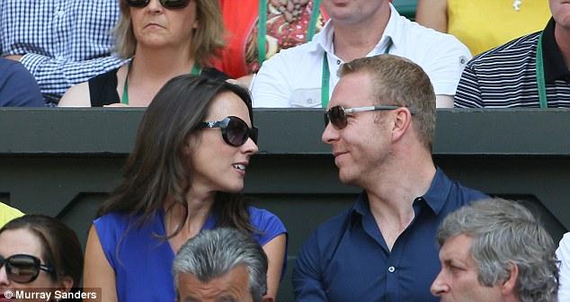 Hopeful Brit: Fellow Scot Sir Chris Hoy is there giving his support