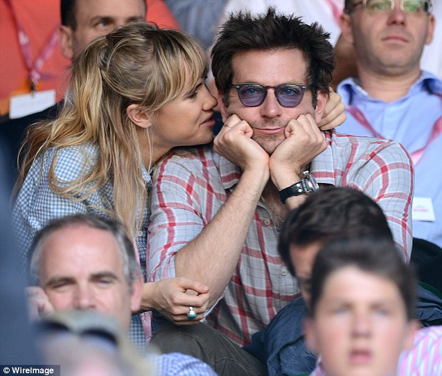 That's better: Suki got her Brad to herself earlier in the week on Day 11 of Wimbledon