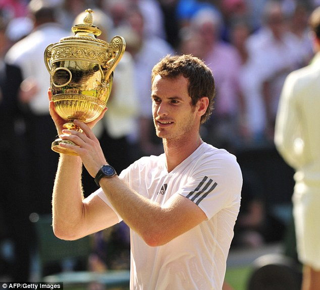 History boy: Andy Murray is the first Briton to lift the Wimbledon men's trophy since 1936