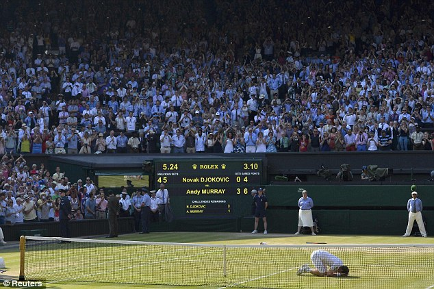 Stunned: After three match points, Murray showed his quality and secured the title