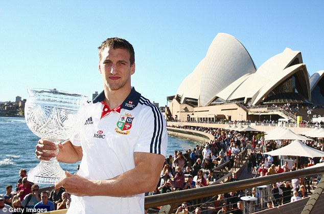 Meanwhile: Captain Warburton with the Tom Richards Cup in Sydney on Sunday