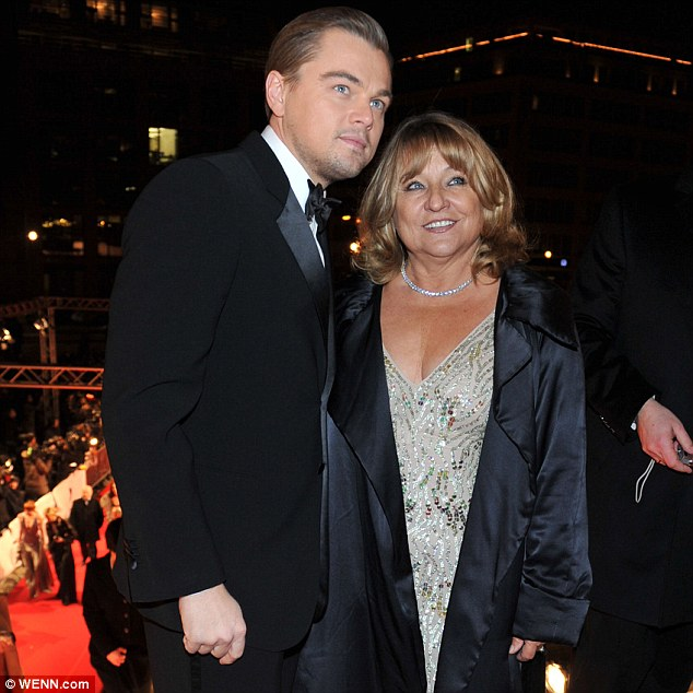Finding her a Romeo: Leonardo DiCaprio, seen here with mother Irmelin Indenbirken in 2010, is said to have set her up with her current boyfriend, who is called David