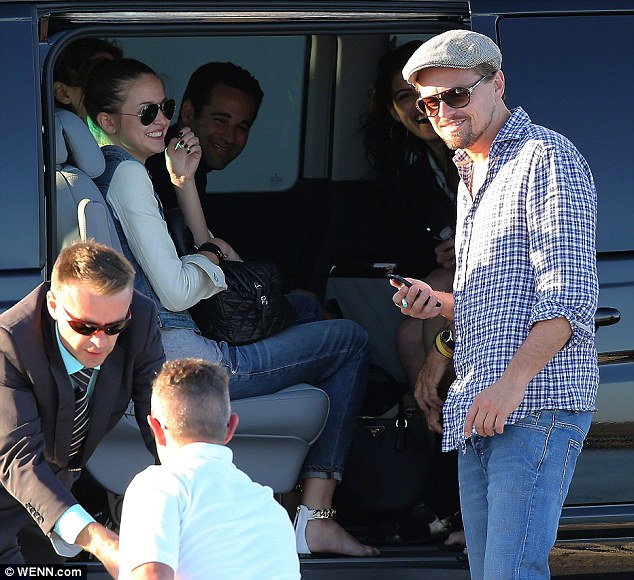 Double date: Leo and Toni, seen here together in May, are said to have partied together along with his mother and her man at a July 4 in Malibu