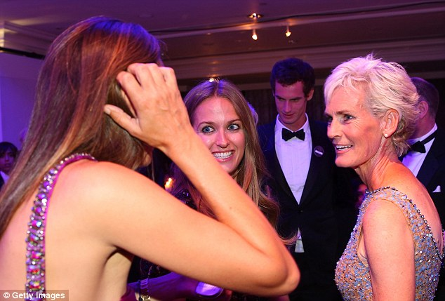 Talk of the town: Judy and Kim enjoy the afterparty as Murray mingles at the Winners Ball