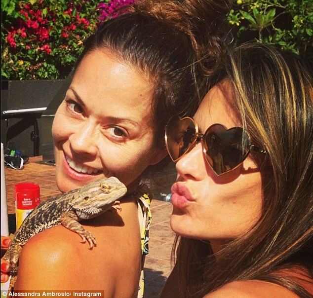Hi there: The 32-year-old also introduced her pet to one her celebrity guests, Dancing With The Stars' Brooke Burke