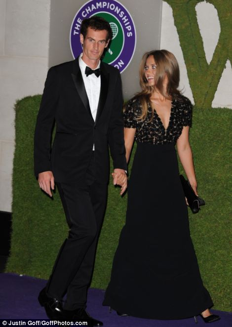 British tennis player and winner of Wimbledon 2013 Andy Murray and his partner Kim Sears arrive for the Wimbledon Champions Dinner