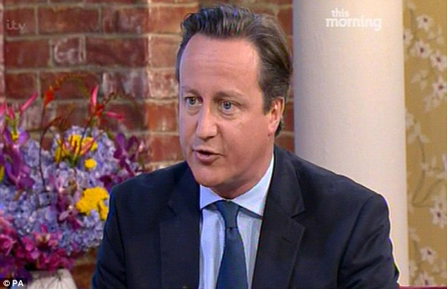 Knighthood calls: David Cameron, pictured on ITV's This Morning, said he thinks Andy Murray deserves a knighthood after his Wimbledon triumph