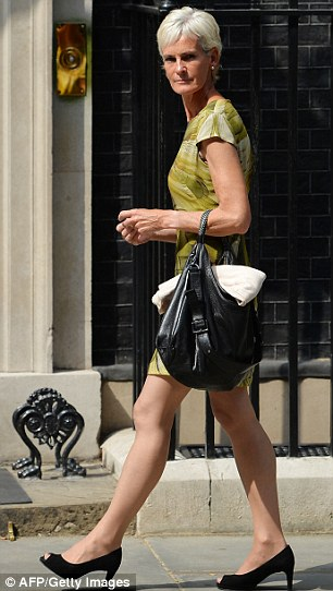 Judy Murray, mother of Britain's tennis player Andy Murray, arrives at 10 Downing Street