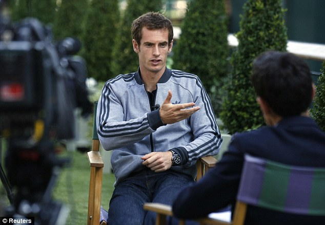 Looking forward: In an interview with the BBC, Murray said he can now look forward to future Grand Slams free of the immense pressure that has followed him throughout his career