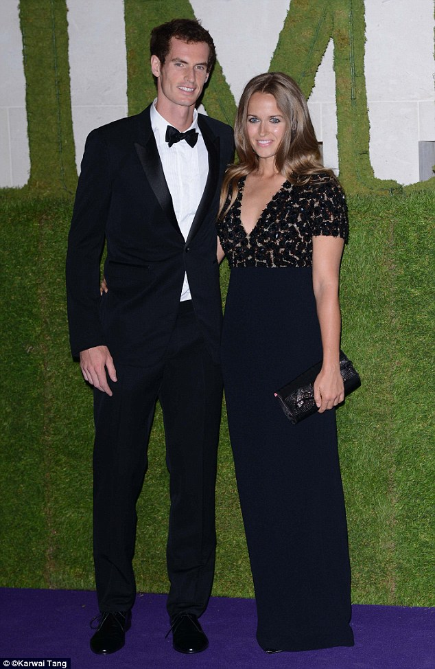 Arriving with Murray for the Wimbledon Winners Party held at the Hotel Intercontinental in London