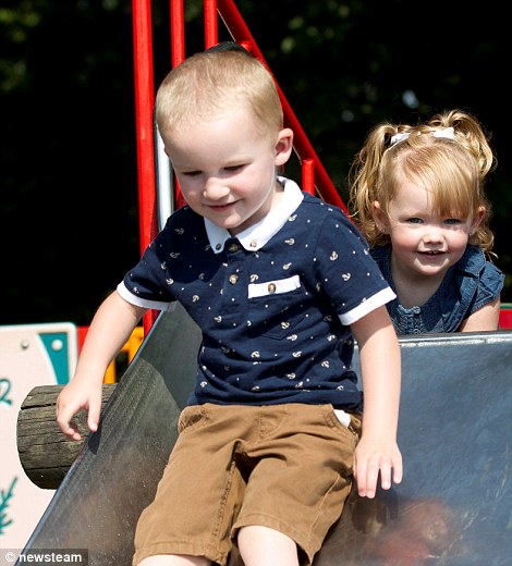 Tyler and Lilly Hewitt enjoying the hot weather in Canon Hill Park, Birmingham, 8 July 2013
