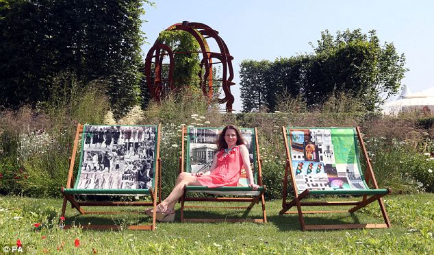 Frances Beardshaw sits in the McCarthy and Stone Garden which has been designed by her husband Chris