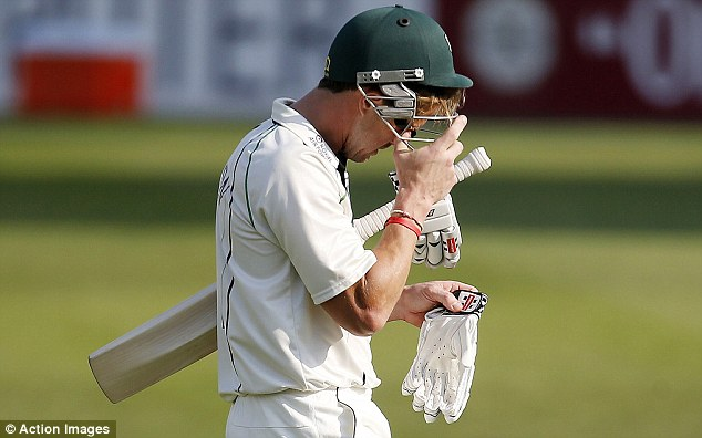 Agitated: Nick Compton went into great detail over his dropping by England