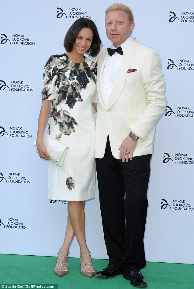 Legend: The sports world was represented in the form of retired tennis champion Boris Becker, who attended the event alongside his stunning wife Lily