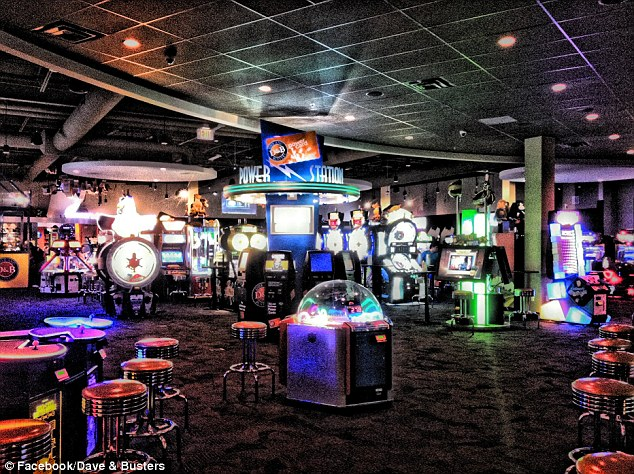 Restaurant: The son stormed away from the table at Dave & Buster's, pictured