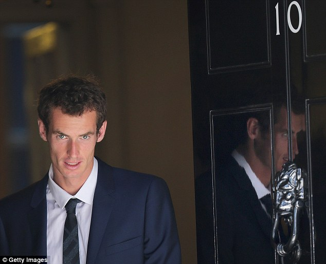 Andy Murray leaves 10 Downing Street