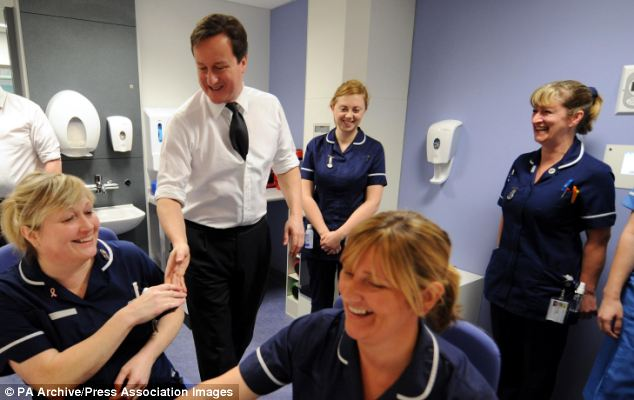 Promise: Prime Minister David Cameron has been under pressure to stick to his pledge on health spending