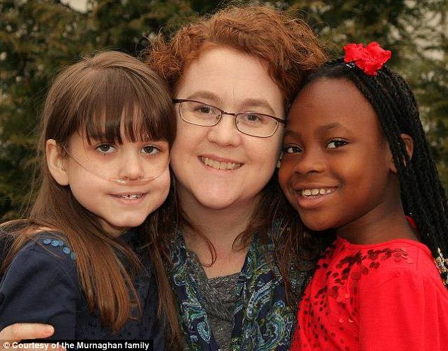Family backup: Sarah, Janet and Ella (from left to right). On Monday Janet described Sarah's pneumonia as 'a large setback'