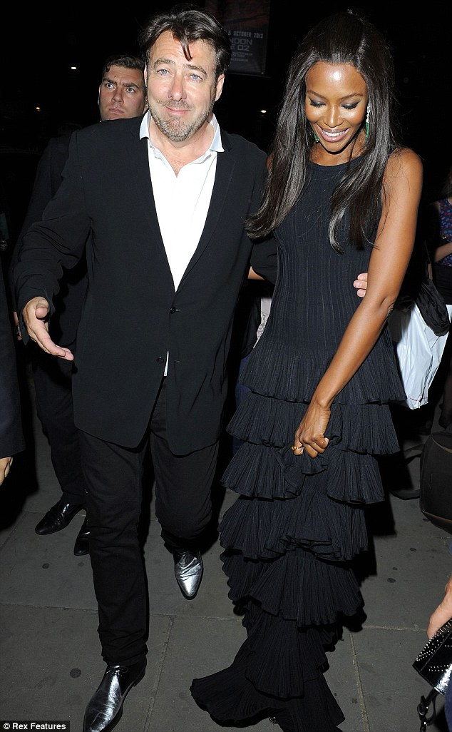 Laughing matter: Jonathan Ross and Naomi Campbell clearly enjoyed themselves at the event