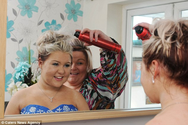 'The night I dreamed of': Paige, 16, says she is 'so grateful' to her mother for helping to make her night so special