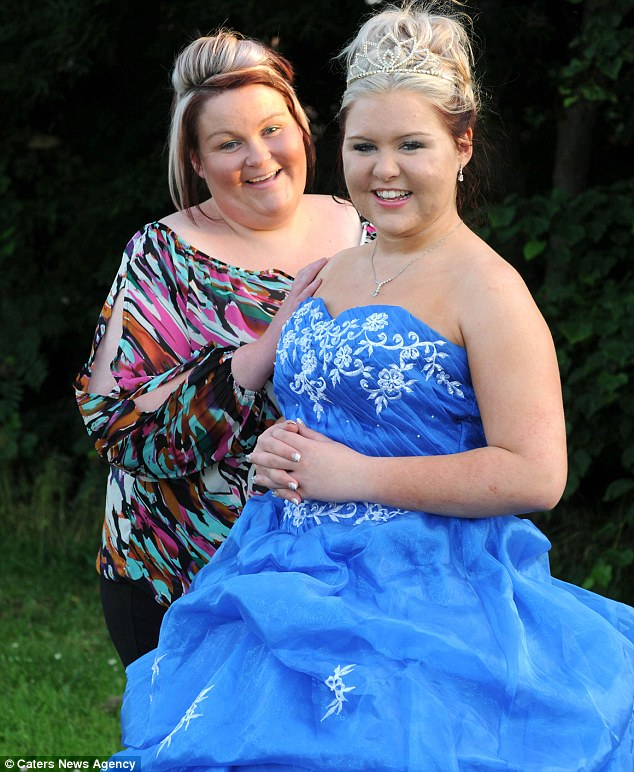 Devoted: Hayley Harker splashed out £1,000 to make her daughter's prom night perfect, after Paige endured years of bullying at school