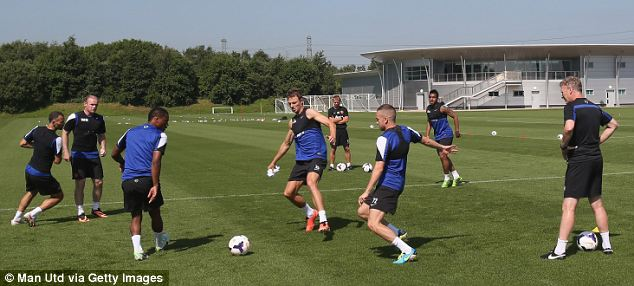 On the ball: Moyes watches on