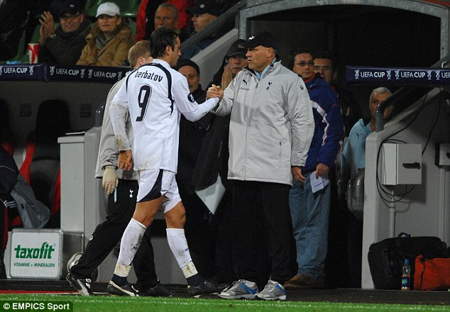 In the beginning: Berbatov and Jol first worked together at Spurs