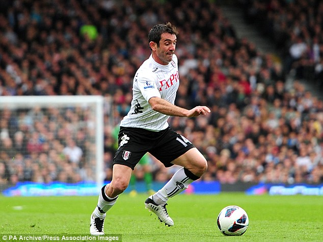 Staying put: Giorgos Karagounis has signed a new deal at Fulham